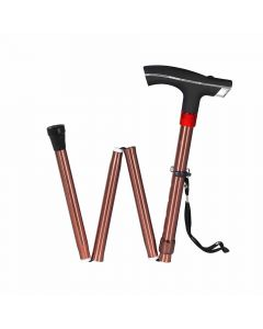 Height Adjustable Walking Stick with LED Torch - MCP