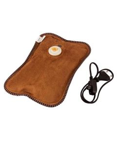 Electric Hot Water Bag with Fur Velvet and Hand Pocket - MCP
