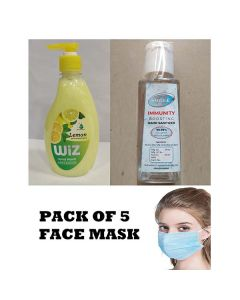 Combo of Hand Wash - Hand Sanitizer and Face Mask