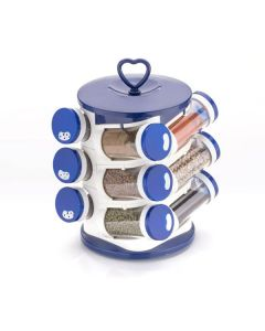 Revolving Spice Rack With Jars - Home Turf
