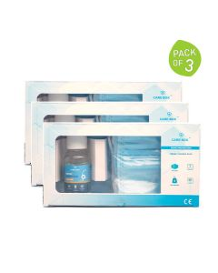 Weekly Kit Of 7 Masks + 50 ml Hand Sanitizer (Pack of 3 Kits) - Care Box