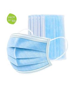 3-Ply Surgical Protective Face Mask (Pack of 100) - Safent