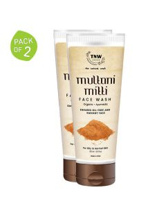 Multani Mitti Face Wash (Pack of 2 - 100 ml each) - TNW The Natural Wash