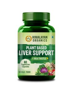 Plant Based Liver Support With Milk Thistle (60 Veg Capsules) - Himalayan Organics