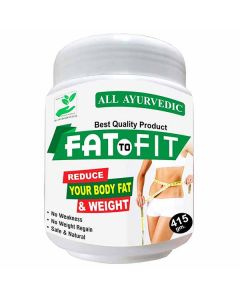 Ayurvedic Best Weight Loss Product and Natural Fat Loss Formula (415 gm) - Fat to Fit