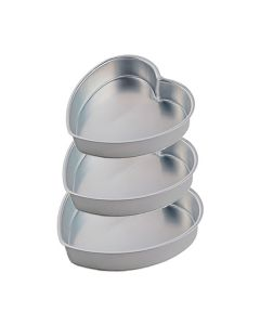 Aluminum 6,7 & 8 Inches Cake Mould with 2 Inch Height (Set of 3 Pcs)