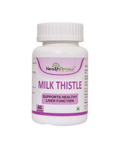 Milk Thistle Capsules For Healthy Liver (60 Capsules) - HealthAmour