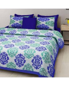 Cotton King Size Bedsheet with 2 Pillow Covers - Diva Collection