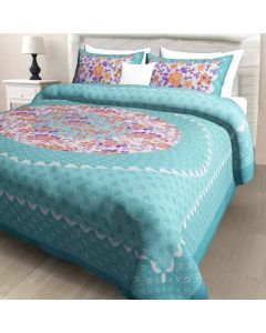Cotton Fabric Double Bedsheet with 2 Pillow Covers - Diva Collection