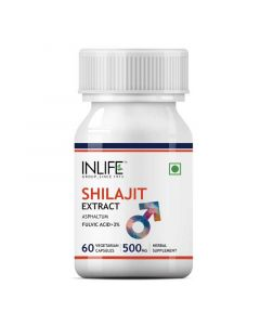 Shilajit Extract 500mg (60 Vegetarian Capsules) for Stamina and Vitality - Inlife