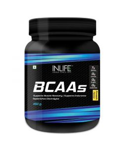 BCAA Branched Chain Amino Acids 7 G With L-Glutamine- Citrulline Malate Nutrition (450 gm) - Inlife