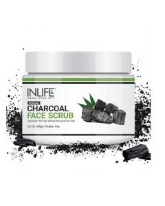 Activated Charcoal Face Scrub (100 gm) - Inlife