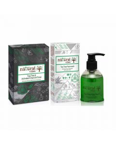 Combo Pack of 1 Tea Tree Activated Charcoal Soap (150 gm) and 1 Tea Tree Face Wash (150 ml) - Natural Vibes