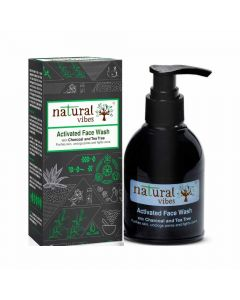 Ayurvedic Activated Charcoal and Tea Tree Face Wash (150 ml) - Natural Vibes