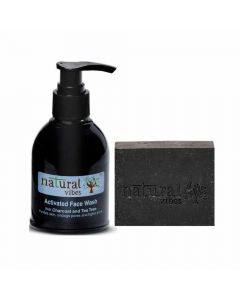 Ayurvedic Activated Charcoal Face Wash (150 ml) and Soap (150 gm) - Natural Vibes