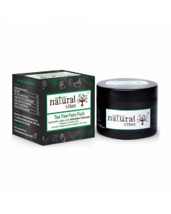 Ayurvedic Tea Tree and Activated Charcoal Face Pack (50 gm) - Natural Vibes