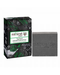 Tea Tree and Activated Charcoal Soap (150 gm) - Natural Vibes