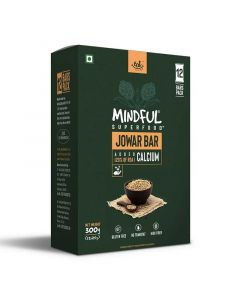 Mindful Jowar Millet Granola Bars Loaded with Calcium (1 Box -12 Bars) - Eat Anytime