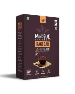 Mindful Ragi Millet Snack Bars Loaded with Calcium (1 Box -12 Bars) - Eat Anytime