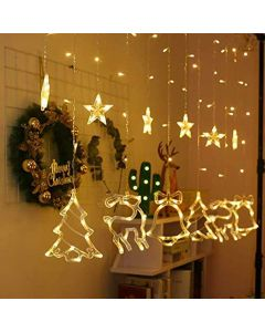 5 Stars and 5 Bell / Reindeer / Christmas Tree LED Special Christmas Theme String Lights 5 Meter