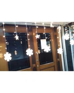 Brand World Curtain LED String Lights (6 Stars and 6 Snowflakes) for Christmas Party Decoration 5 Metre