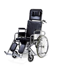 Portable Aluminum Wheelchair with Commode - Easycare