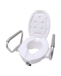 Elevated Toilet Commode Raiser with Removable Padded Handles - Easycare