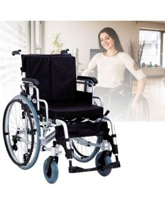Aluminum wheelchair with Foldable Backrest and Quick Release Rear Wheel - EasyCare