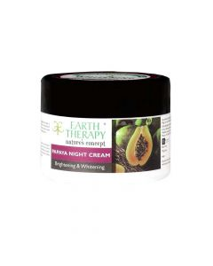 Papaya Night Cream Infused With Argan & Olive Oil (50 gm) - Earth Therapy