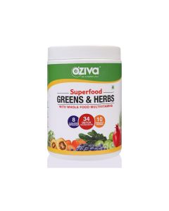 Superfood Greens and Herbs Powder (250 gm) - OZiva