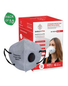 SX 7820V N95 | FFP2 FDA | DRDP & CE Certified Earloop with Valve Face Masks (Pack of 10) -  Shield Xtra