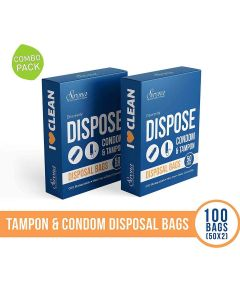 Disposable Bags for Tampons and Condoms (Pack of 2 - 50 Bags each) - Sirona