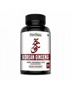 Korean Ginseng Supplement (100 Tablets) - Simply Nutra