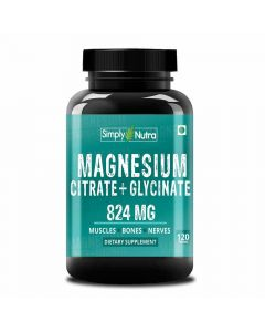 Magnesium Citrate + Glycinate Supplement (120 Capsules) - Simply Nutra