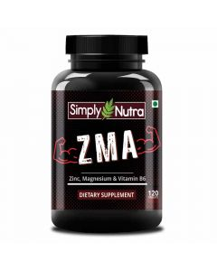 ZMA Night-Time Zinc, Magnesium & Vitamin B6 Dietary Supplement (120 Tablets) - Simply Nutra