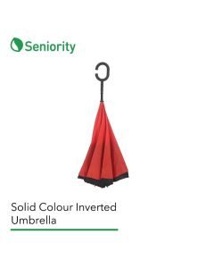 Solid Colour Inverted Umbrella with C-Shaped Handle - Seniority
