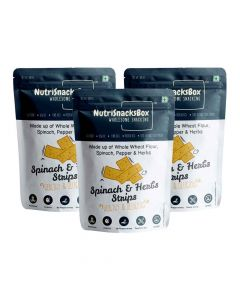 Spinach And Herbs Strips (Pack of 3) - NutriSnacksBox