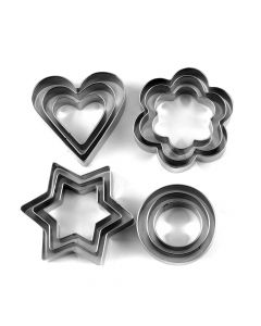 Stainless Steel Cookie Cutter (12 Pieces) - K Kudos