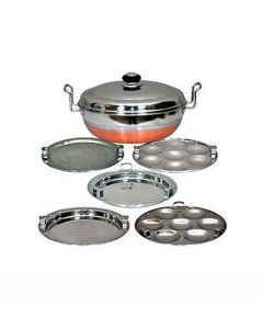 Stainless Steel Idli Cooker and Multi Kadai Steamer with Copper Bottom - Ezzy