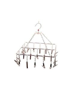 Stainless Steel Square Shaped Hanger (23 Clips) - K Kudos