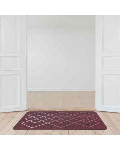 Stampo Abstract Design Multi Utility Tufted Mat Maroon - Shresmo
