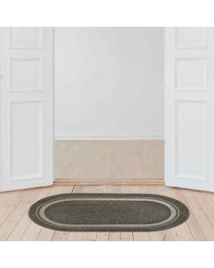 Stampo Oval Multi Utility Tufted Mat (39 x 69 cm) - Shresmo
