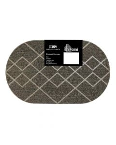 Stampo Oval Shaped Multi Utility Tufted Mat (39 x 69 cm) - Shresmo