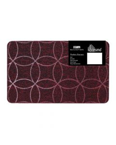 Stampo Multi Utility Tufted Mat Maroon - Shresmo