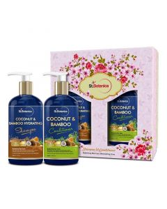 Coconut and Bamboo Hydrating Shampoo and Conditioner (300 ml) - St Botanica