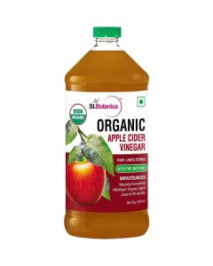 USDA Organic Apple Cider Vinegar - Raw - Unfiltered with Mother Vinegar (500 ml) - St Botanica