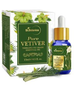 Vetiver Pure Aroma Essential Oil (15 ml) - St Botanica
