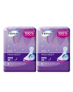 TENA Lady Maxi Night - Bladder Control Pads (Pack of 2)