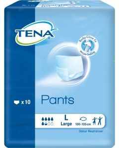TENA Adult Pull Ups - Pant Style Underwear Large (Pack of 10)