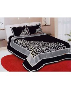 Chenille Double Bedsheet And 2 Pillow Covers Set - The Home Talk